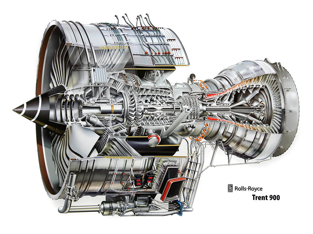 [Translate to Englisch:] Rolls-Royce Trent 900